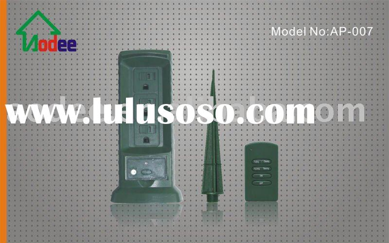 RF; remote control; wall outlet; Wireless remote control Power Stake
