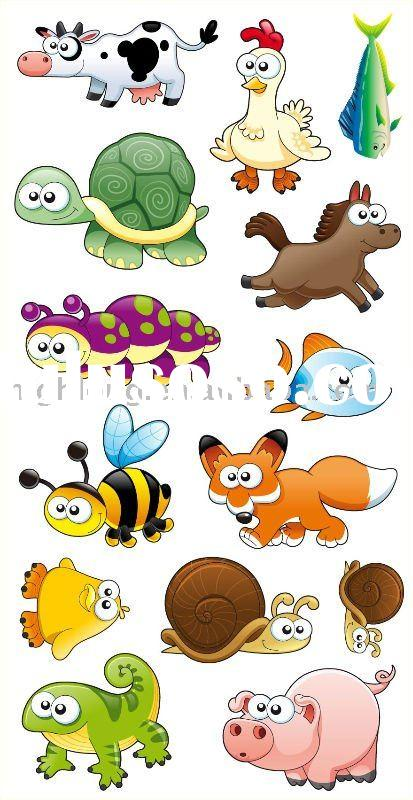 Removable Kids' Cartoon Sticker