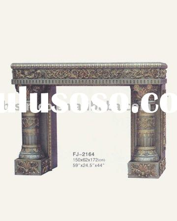 Rococo hand carved mantel,solid wood fireplace,European furniture