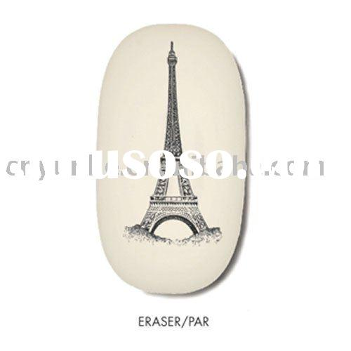 School/Office Eiffel Tower Eraser/plastic rubber