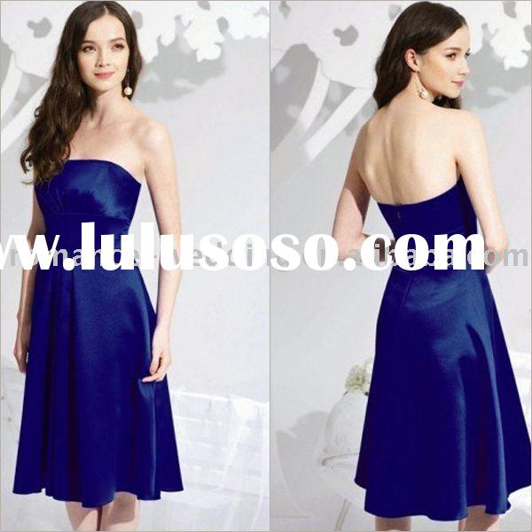 Sp0009 Strapless Knee-length Young Mother of Bride Dresses
