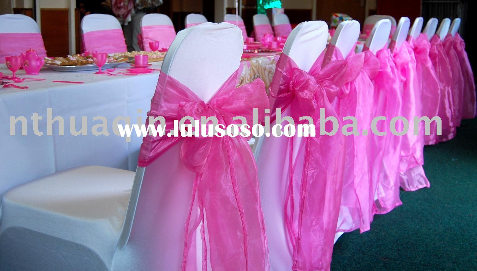 Spandex chair covers & Organza sash,Lycra chair covers