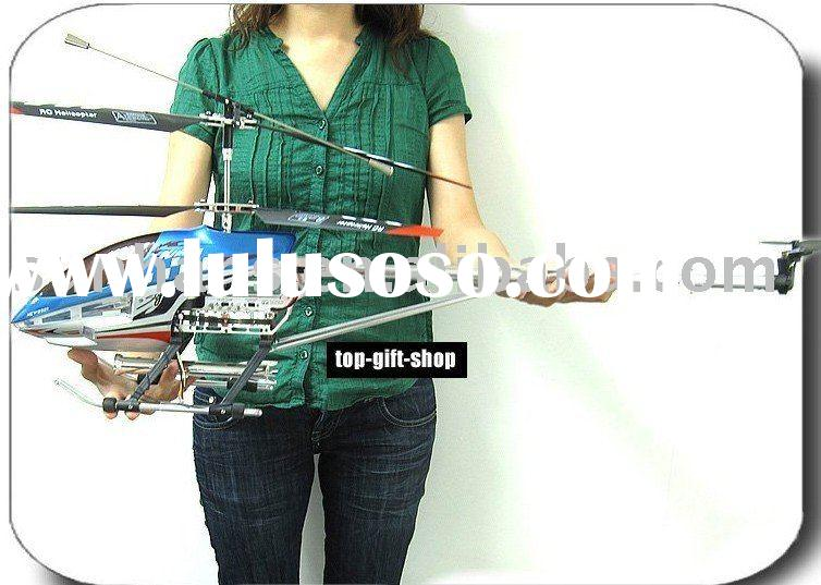 Super size 91cm Sky King Metal gyro 3.5ch remote control helicopter two speed model with lights toy