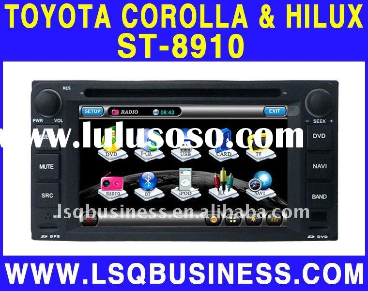 TOYOTA Corolla Car DVD Player with Bluetooth, Built-in GPS, Steering Wheel Control, TV, Radio,V-CDC,
