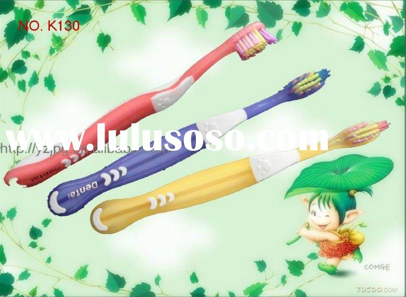 Tooth brush for kids! High quality colorful bristle Kids' Toothbrush