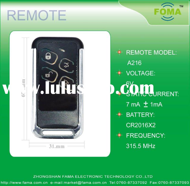 UNIVERSAL REMOTE CONTROL FOR CAR ALARM SYSTEM FOMA-A216