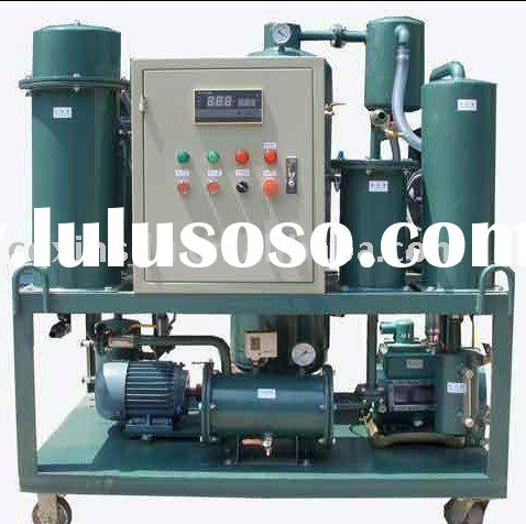 Vacuum waste lubricant oil process machine
