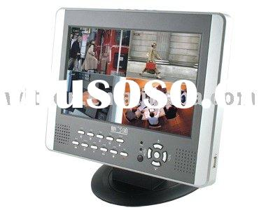 "W3-D2504BM CCTV Security DVR Integrated 10"" LCD Monitor Standalone DVR"