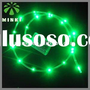 Waterproof battery box powered green LED rainbow rope light