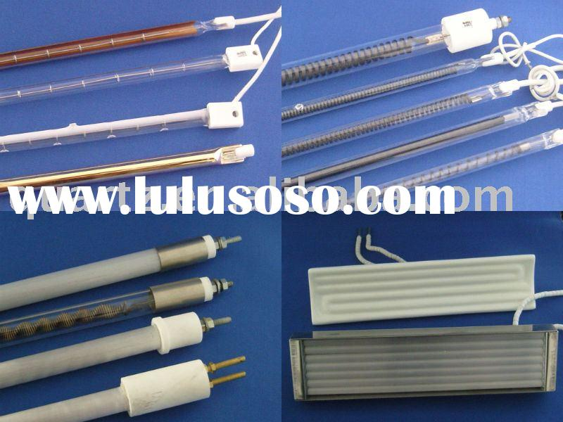 White Coated Infrared Quartz Halogen Heater Tube,Carbon Fiber Heating Tube, Quartz Heater Lamp, Quar