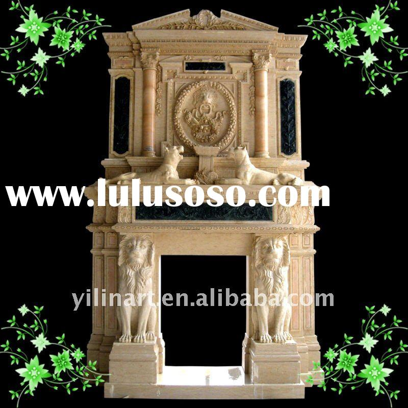 Yellow marble fireplace YL-B117