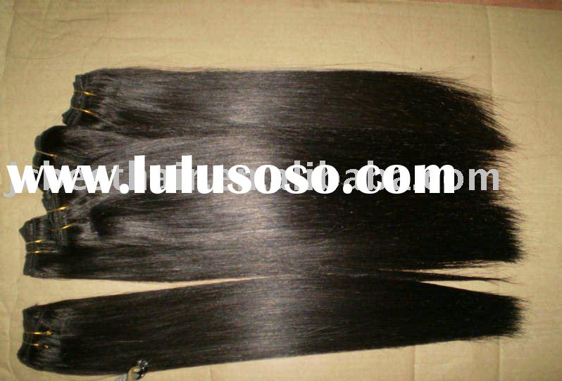 #1 Indian remy human hair weft/extension