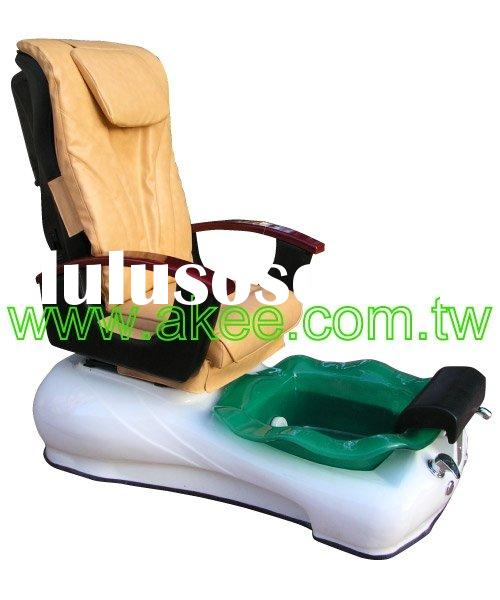 (AM-005S-C) Pedicure Spa Massage Chair + Tub (Glass), Pedicure Chair, Foot Spa Chair