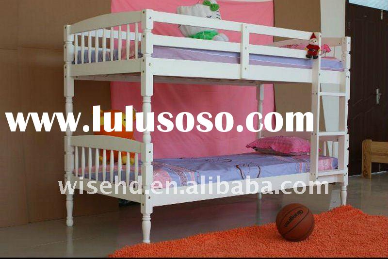 Solid Pine Wood White Painted Bunk Bed For Sale Price