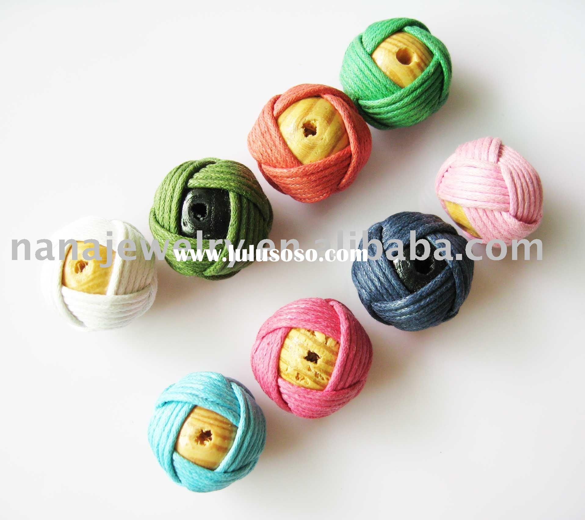 beads,pendant,cotton cord surround beads, cotton thread covered beads, wooden beads, glass beads,jew