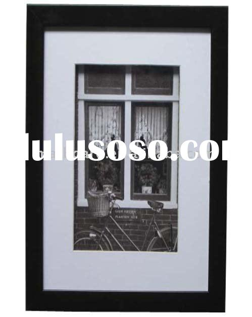 black plastic shadow box frame / ps picture frames