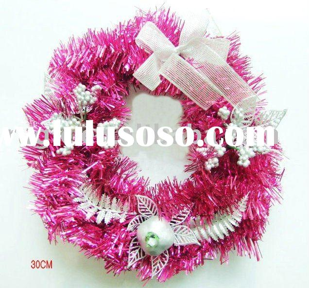 Pvc tinsel garlands for sale price china manufacturer