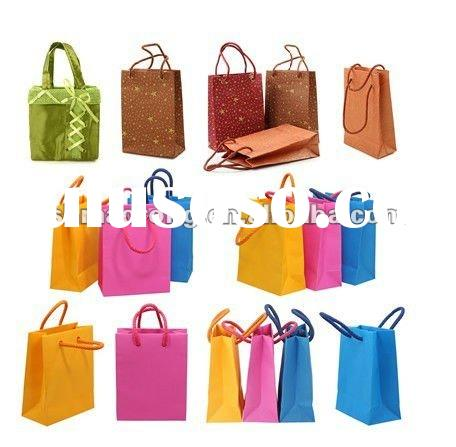 colored paper gift bags small with high quality