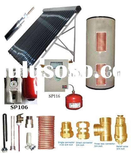 copper coil solar water heater, copper coil hot water heater, copper coil solar heating system