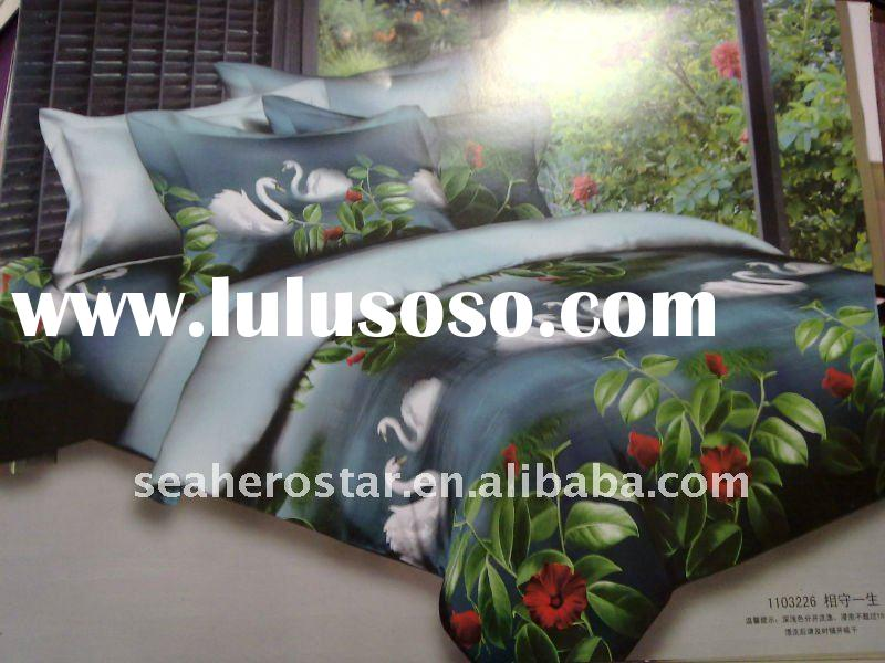 cotton printed bedding / bed cover / bed sheet /fabric