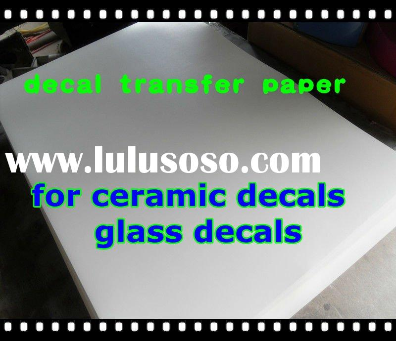 decal transfer paper for ceramic, glass decals