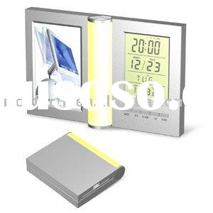 digital alarm clock with photo frame,LCD clock,digital clock,novelty clock,promotional clock,alarm c