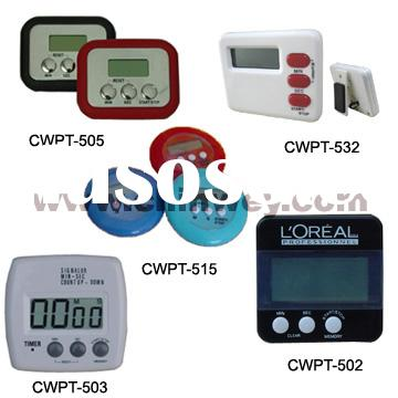 digital kitchen timer with LCD