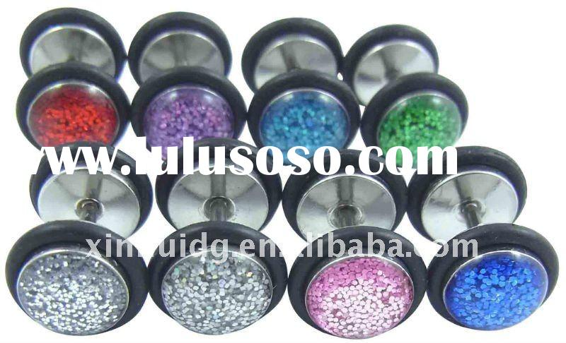 extra glitter steel fake plugs with double O rings
