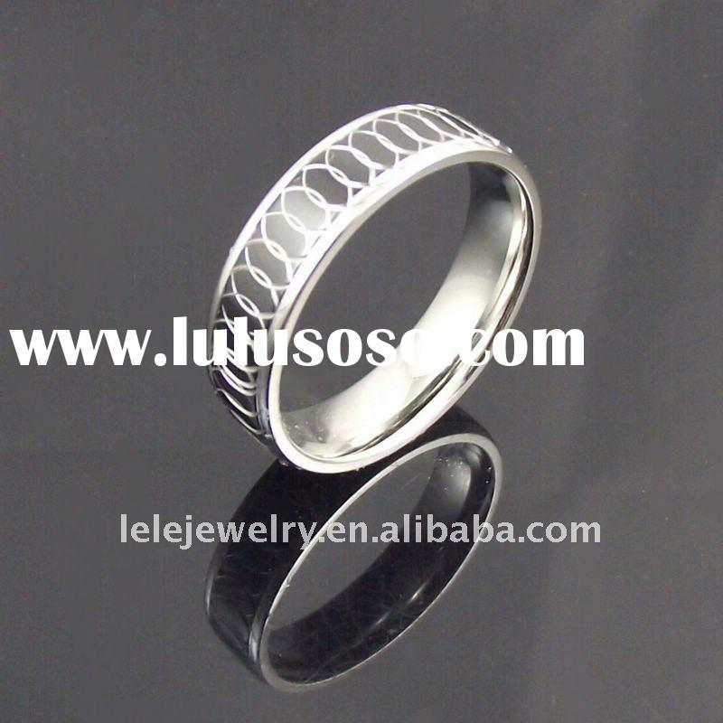 fashion black stainless steel rings 2011