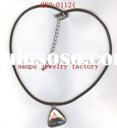 fashion funky costume handmade vintage alloy triangle studded zircon stone pendant necklace jewelry