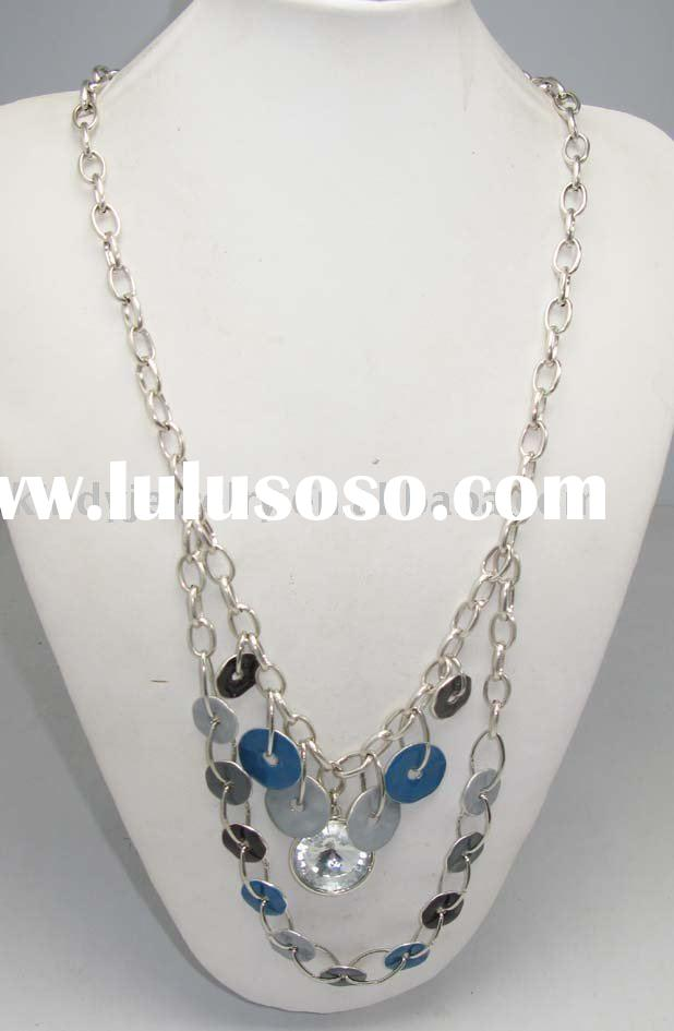 fashion jewelry, antique silver colour alloy handmade necklace