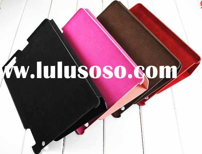 for Ipad 2 Authentic leather smart cover case coat Skin Stand High Quality Fast Shipping DHL UPS EMS