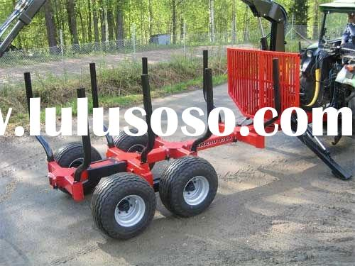 forest log trailer, timber Log trailer with crane for Tractor,tractor wood trailer,timber trailer