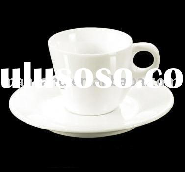 good quality porcelain ceramic white cup saucer
