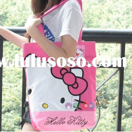 hello kitty canvas shopping bag for promotional(CS-004)