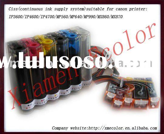 high quality ciss ink system for Canon printer IP3600 / IP4600 / IP4700 / MP560 / MP640 / MP990 / MX
