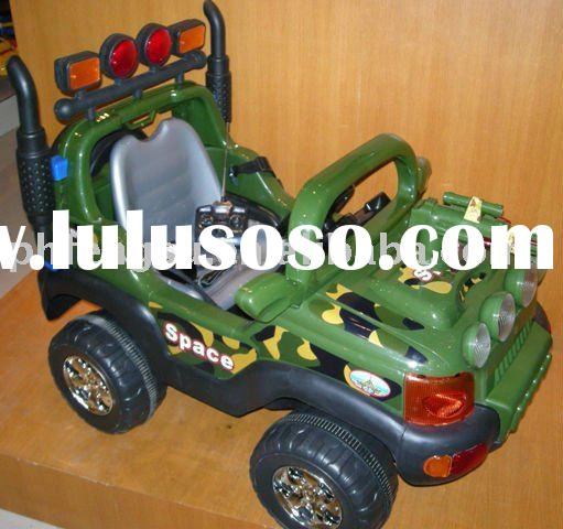 kid's Jeep Car,with remote control/music/headlights and alarm, have seat belts.with a toy gu