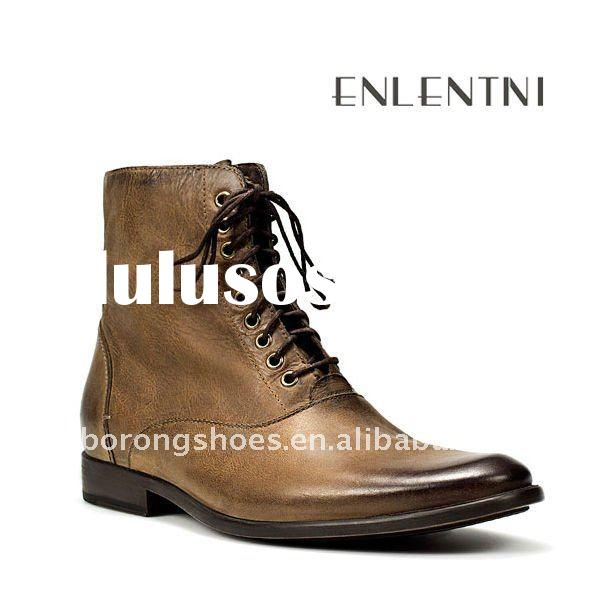 Mens Cheap Leather Boots - Boot Hto