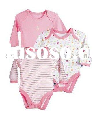 organic cotton & bamboo baby bodysuit/infant onepiece/toddler envelop one piece