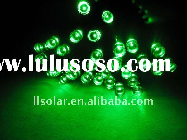 outdoor garden decorative string green led solar light