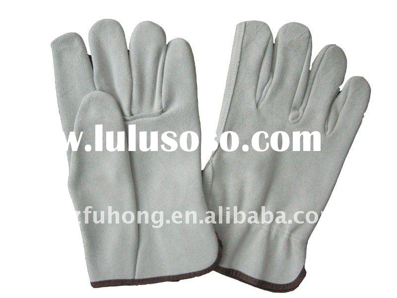 quality full split cowhide leather work glove