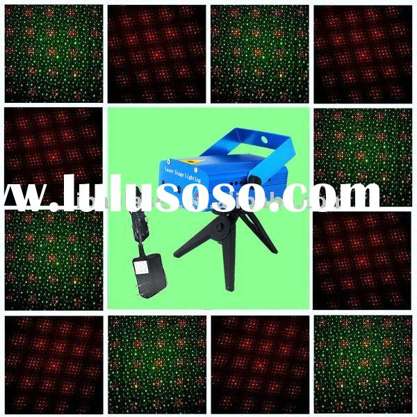 red and green cross star laser stage light of 0.35kg