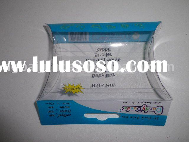 rubber band clear pillow box