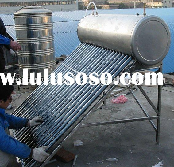 solar water heater with heating exchange