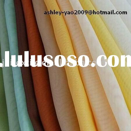 spun polyester white voile fabric