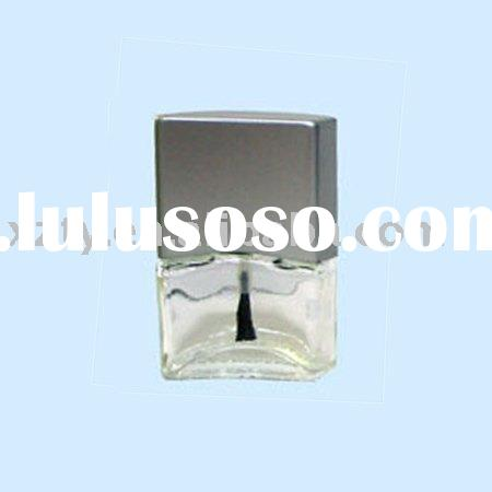 square nail polish bottle with brush