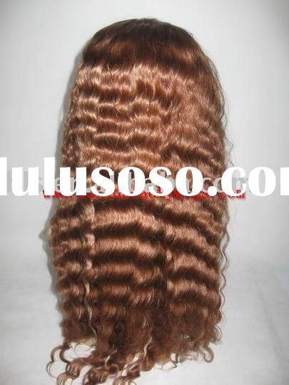 stock deep wave,100% human hair wig-best quality from factory directly