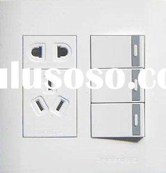 three gang one way/two way switch and two-pole three-pole socket