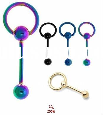 titanium anodized doorknocker barbell,body piercing jewelry