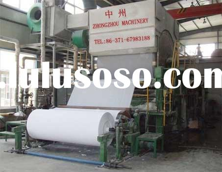 toilet tissue paper machine(raw material is wheat stalks,cotton stalks,wood,wood pulp,waste paper,et
